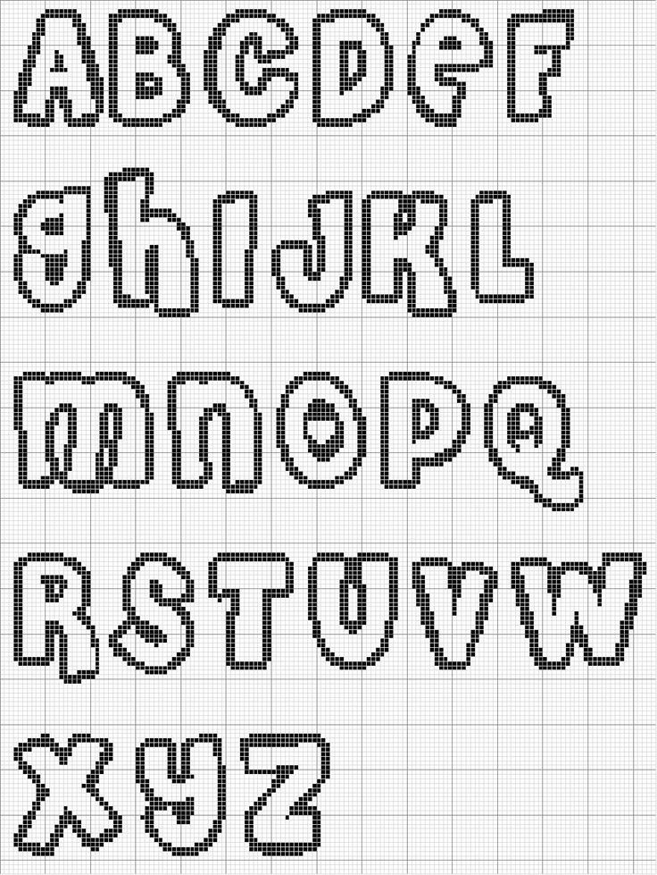 alfabeto-07 schema punto croce gratuito da stampare