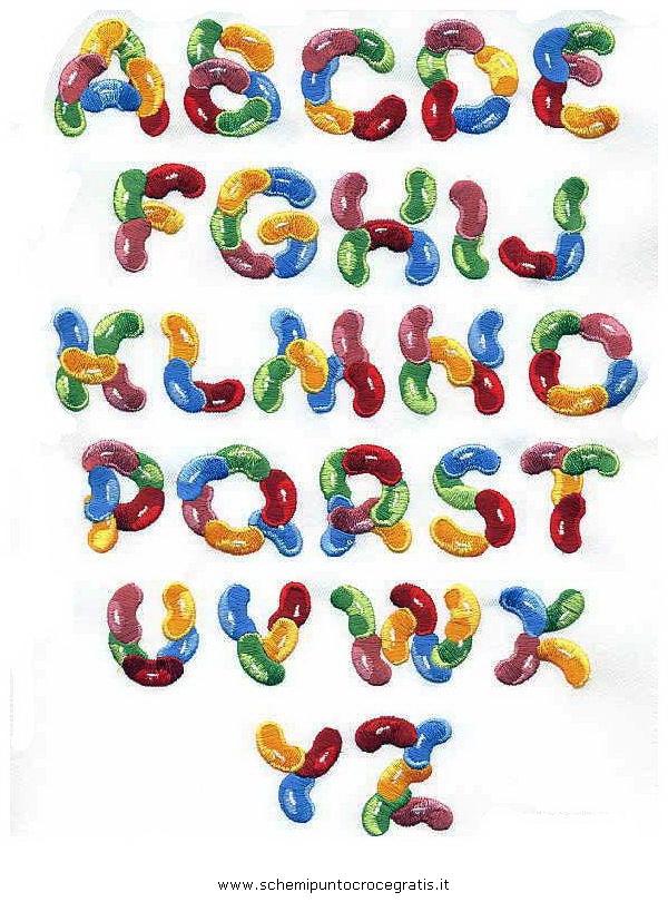 Puntocroce alfabeto 28 schema punto croce gratuito da stampare for Alfabeti a punto croce per bambini