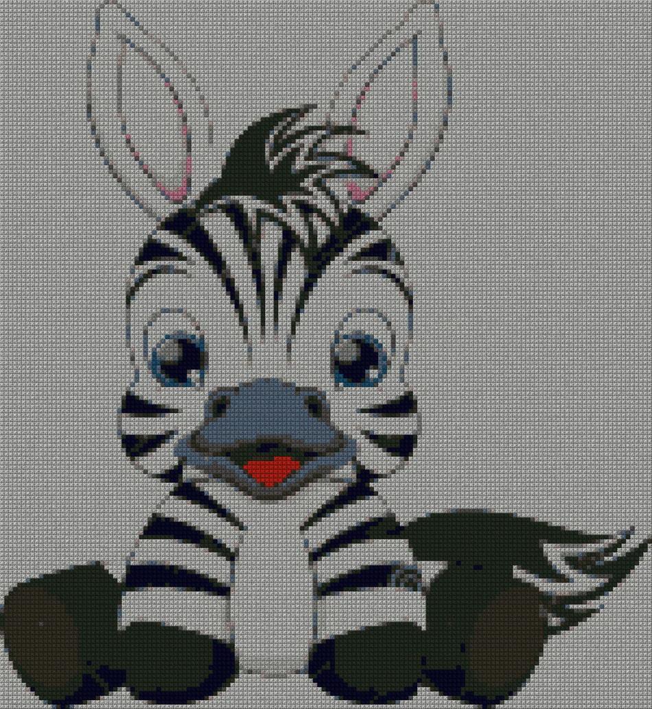 Zebra schema punto croce gratuito da stampare
