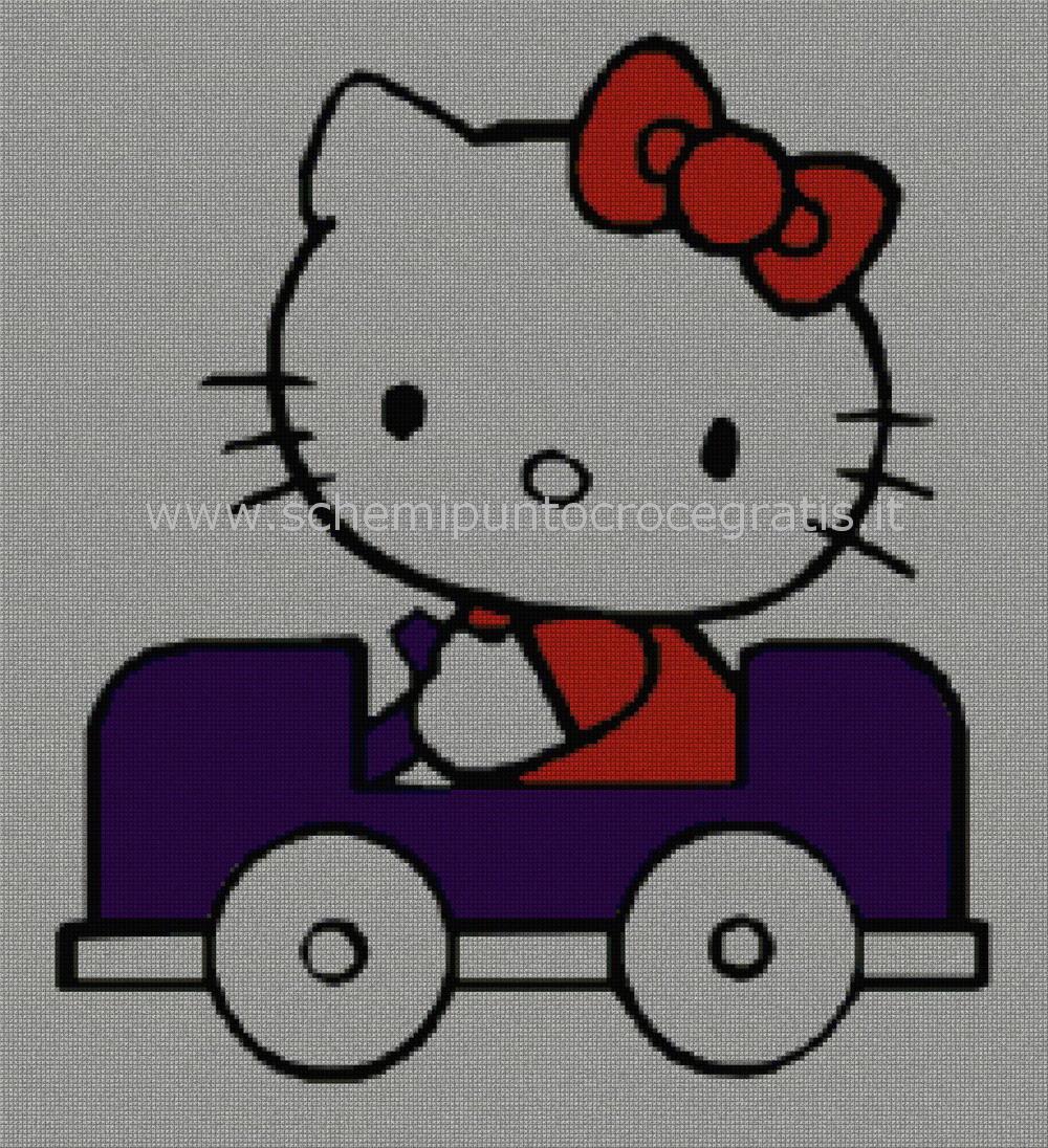 Hello kitty s schema punto croce gratuito da stampare