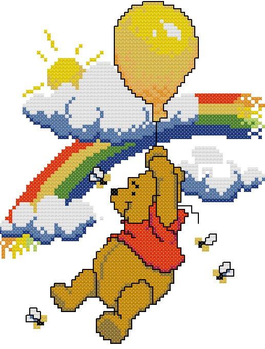 Winnie pooh 025 schema punto croce gratuito da stampare for Punto croce disney winnie the pooh