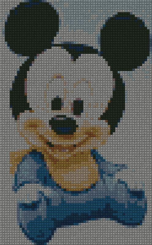 Disneybabytopolino1 62x100 Schema Punto Croce Gratuito Da Stampare