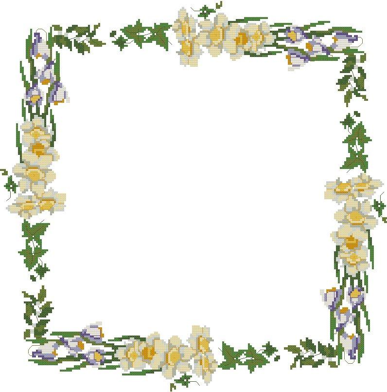 Cornici 016 schema punto croce gratuito da stampare for Cornici semplici per foto